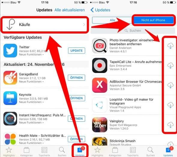 iPhone Apps wiederherstellen