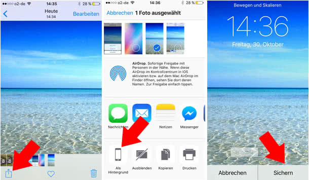 Kostenlose iPhone Wallpaper einstellen
