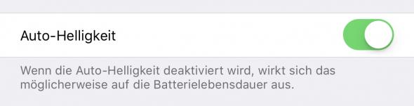 iPhone Auto-Helligkeit richtig einstellen