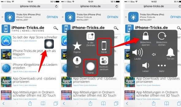 iPhone Assitive Touch nutzen