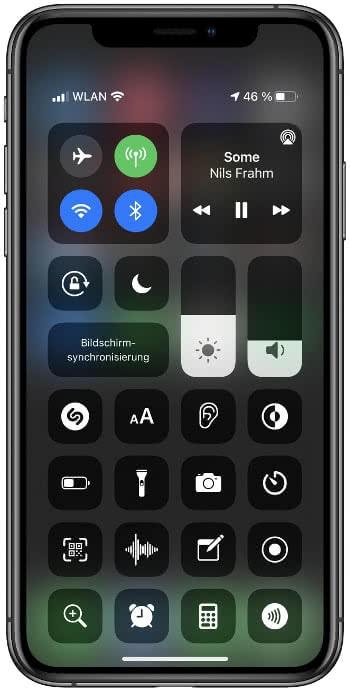 iPhone Kontrollzentrum