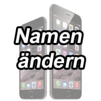 iphone namen ändern