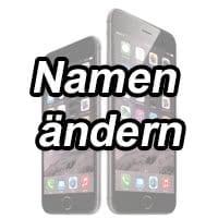 iphone namen ändern