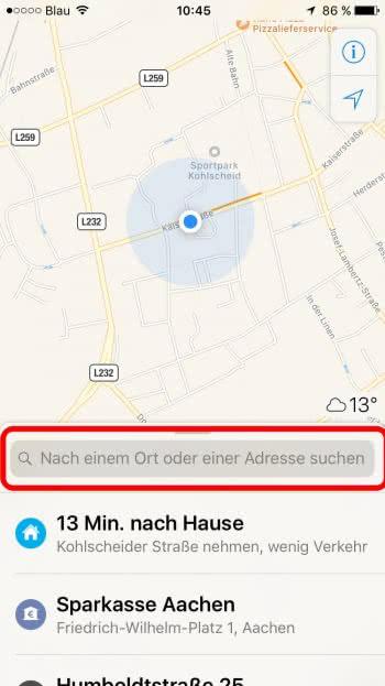 iPhone Navigation