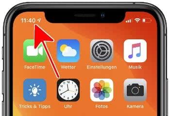 Uhrzeit in Uhr-App am Homescreen