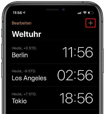 iPhone Weltuhr
