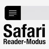 Safari Reader-Modus verwenden