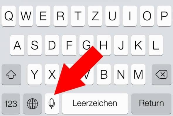 iPhone Diktierfunktion auf der Tastatur