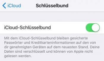 iCloud-Schlüsselbund einrichten