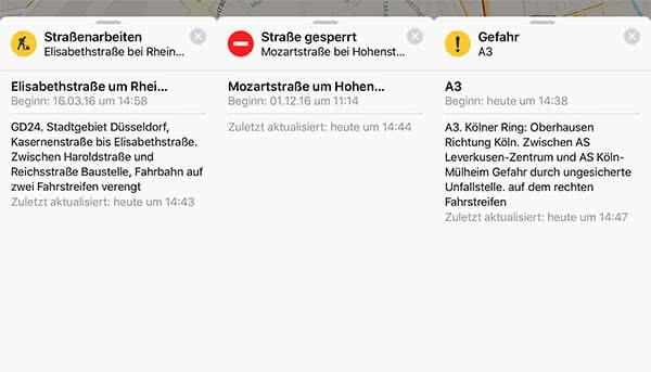 iPhone Karten-App Symbole