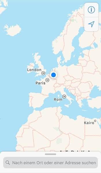 Kompass in der Karten App nutzen auf dem iPhone
