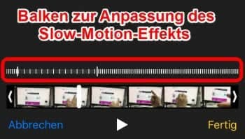 iPhone Slow-Motion-Video anpassen