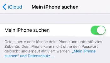 Mein iPhone suchen einrichten