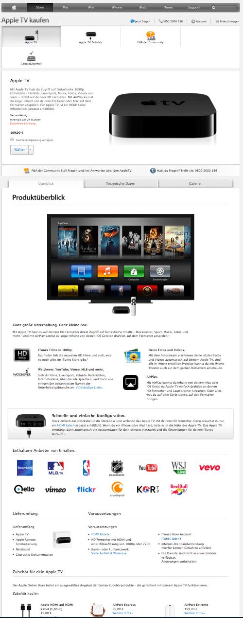 apple tv groß