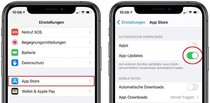 Automatische Updates Iphone