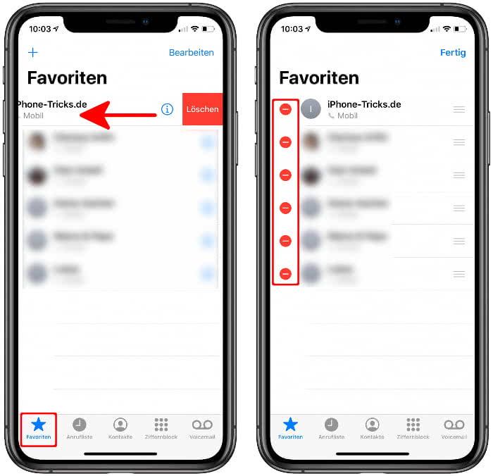 iPhone Favoriten hinzufügen, bearbeiten & löschen