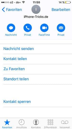 Versteckte Favoriten-Optionen am iPhone verwenden