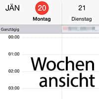 Versteckte Wochenansicht im Kalender aktivieren