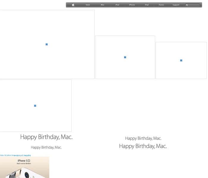 Apple Homepage über Safari