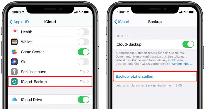 iCloud Backup erstellen am iPhone
