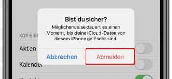 iCloud-Daten löschen