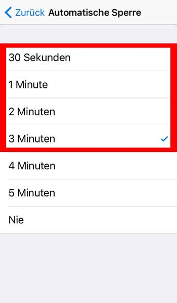 Automatische Sperre am iPhone einstellen