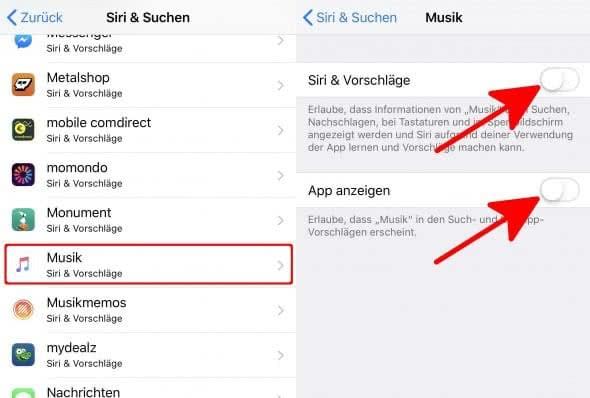 iPhone Spotlight Suche Einstellungen anpassen
