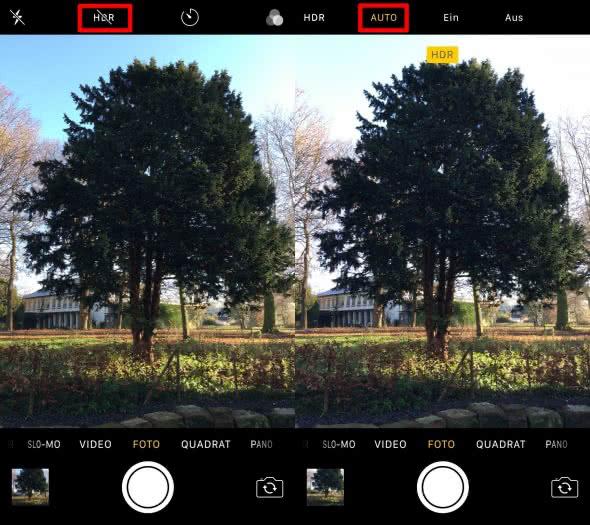 HDR am iPhone aktivieren