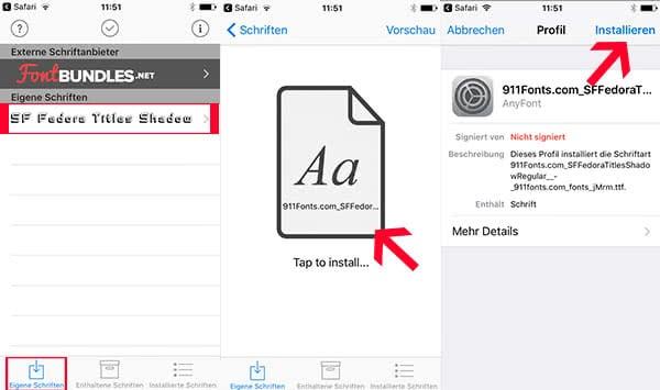 iPhone Schriftarten ändern mit AnyFont