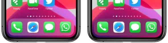 Transparenz Unterschied am iPhone