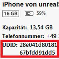iPhone UDID finden