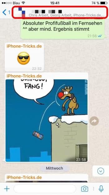 WhatsApp Gruppenchat stummschalten
