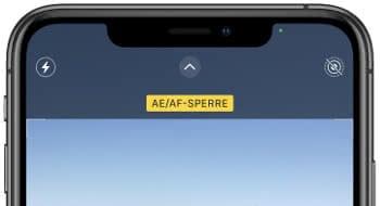AE/AF-Sperre in der Kamera-App