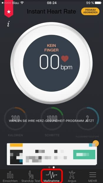 iPhone Puls messen