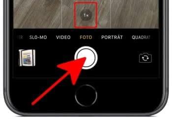 Auslöser in der Kamera-App gedrückt halten, um Serienfotos zu machen