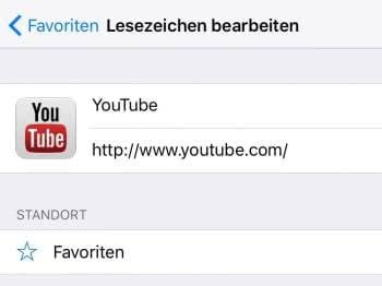 Favoriten bearbeiten – Titel, URL & Standort ändern