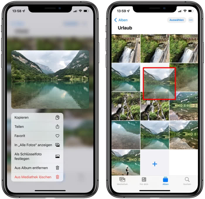 iPhone Fotos sortieren