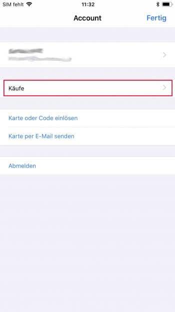 Liste aller gekauften, nicht installierten Apps anzeigen