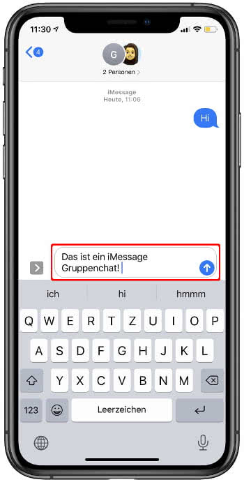 iMessage Gruppenchat
