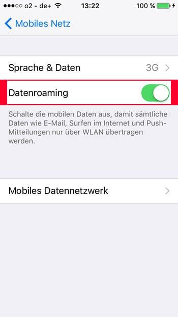 iPhone Hotspot Probleme lösen - Datenroaming aktivieren