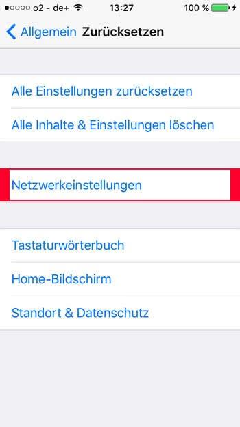 iPhone Hotspot Probleme lösen - Netzwerkeinstellungen zurücksetzen
