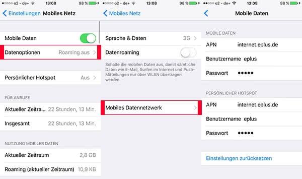 iPhone Hotspot Probleme lösen - Einstellungen überprüfen