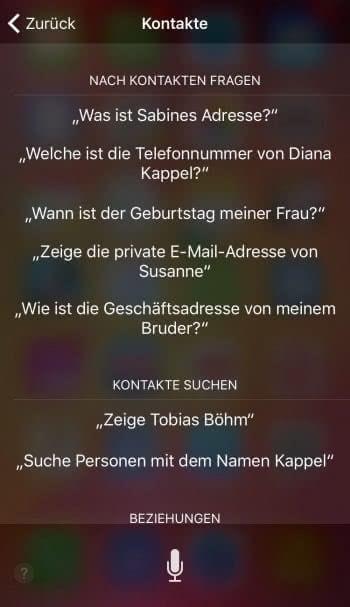 Vollen Funktionsumfang von Siri verwenden