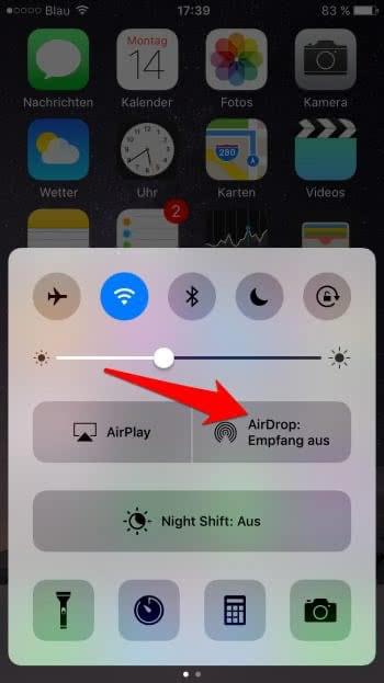 Dateien am iPhone mit AirDrop austauschen