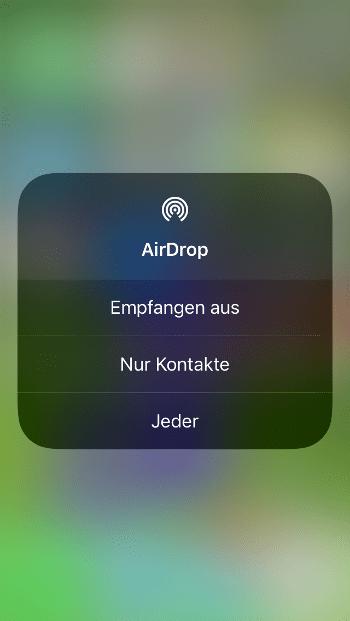 AirDrop iOS11