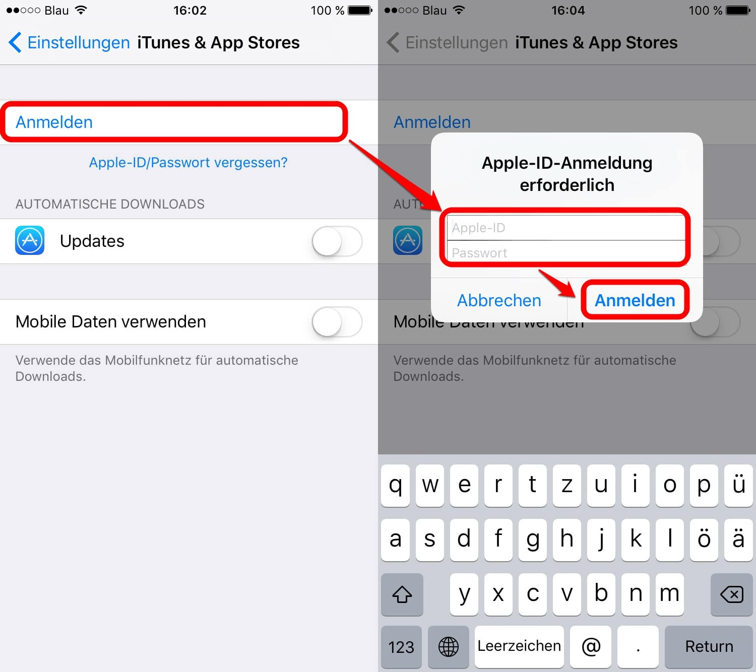 how to create apple id on iphone 6