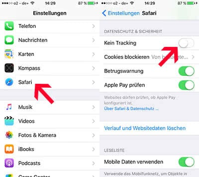 iPhone Ad-Tracking deaktivieren