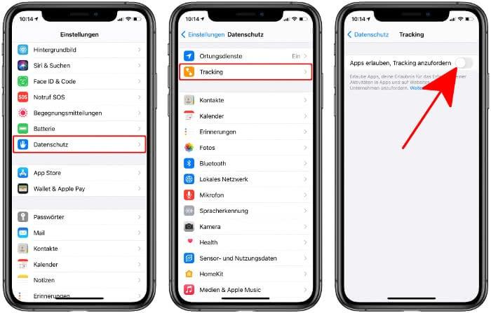 App-Tracking ausschalten am iPhone