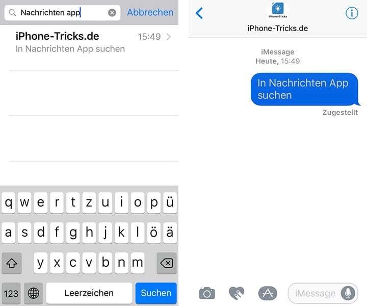 iMessage-Nachrichten & SMS am iPhone suchen