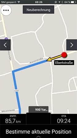 iPhone Offline Navigation mit der CoPilot GPS App